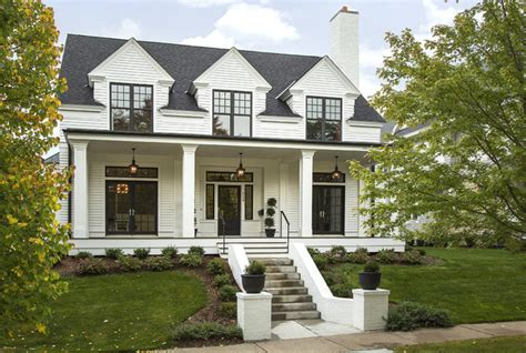 Modern colonial four square transitional exterior minneapolis by charlie amp co design ltd