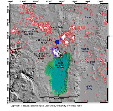 earthquake reno announcements the nevada seismological laboratory