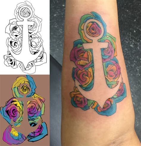 fine line tattoo topeka kaleidoscope anchor by tiiria on deviantart