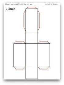 Rectangular Prism Template by The Gallery For Gt Rectangular Prism Template
