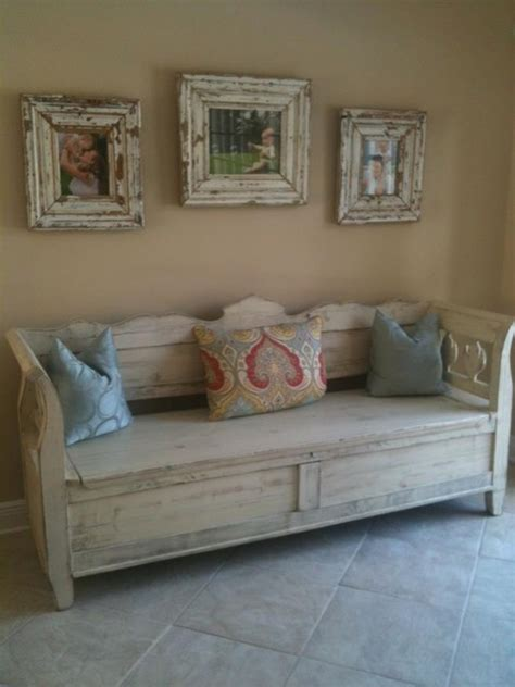 antique white storage bench antique storage bench custom overpainted in white accent and storage benches other