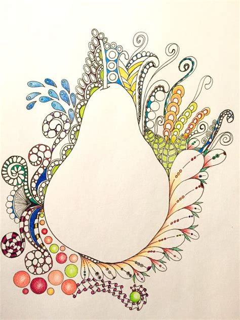 fruit zentangle zentangle pear pear fruit wall zentangle