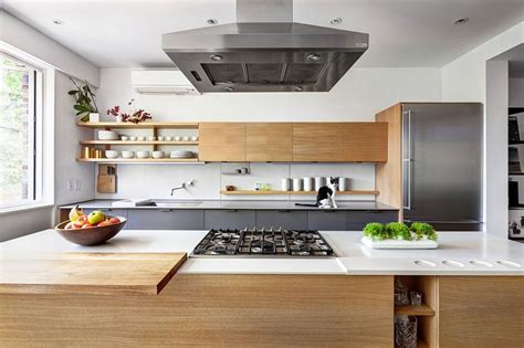 modern wood kitchen ideas with wooden kitchen grey tiles renovated 1890s brooklyn home with brick walls by gradient