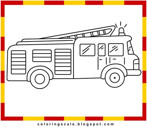 coloring pages printable for kids fire engine coloring