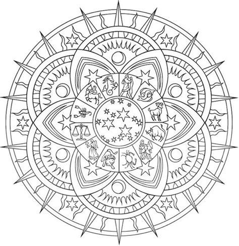 zodiac mandala coloring pages creative quot celestial mandalas quot coloring page free