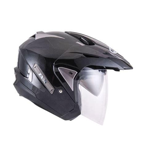Promo Murah Helm Ink T Max Solid jual ink t max solid black met helm half harga kualitas terjamin blibli