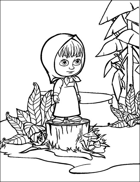 Masha And The Bear Coloring Pages Coloring And Painting