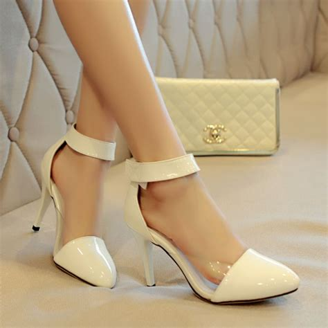 white pointed toe high heels chic white pointed toe high heels fashion shoes on luulla