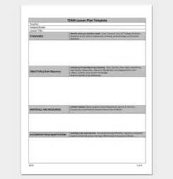 8 step lesson plan template lesson outline template team lesson plan template best