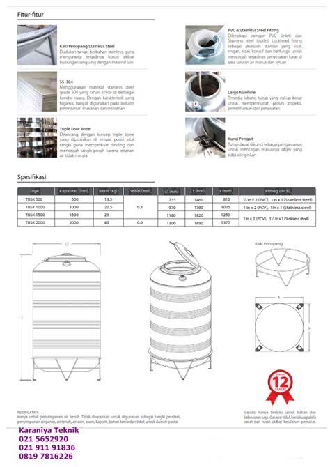 Toren Maspion toren tandon tangki tedmond air yang berupa stainles