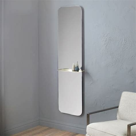 Floating Shelf Floor Mirror West Elm Mirror Floating Shelves