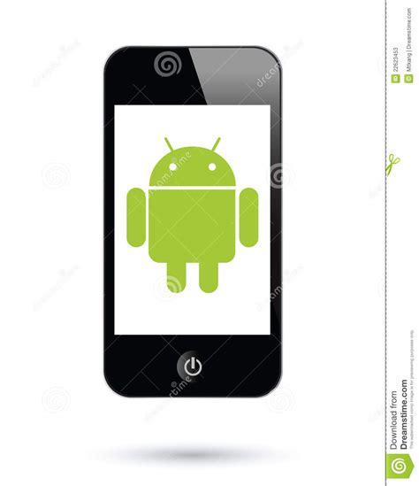 android operating system  smartphones editorial stock