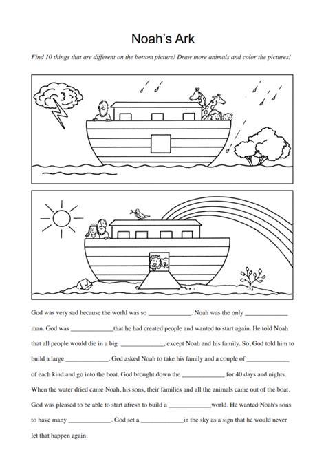 ark boat differences noah s arch activity for preschool worksheets noah best