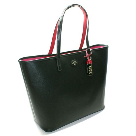 Tote Bage coach black leather large tote bag 32701 coach 32701