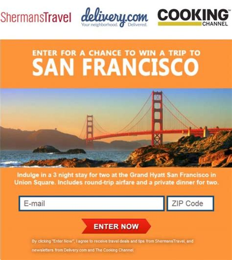Win A Trip Sweepstakes - win a trip to san francisco sweepstakes sweepstakes pit