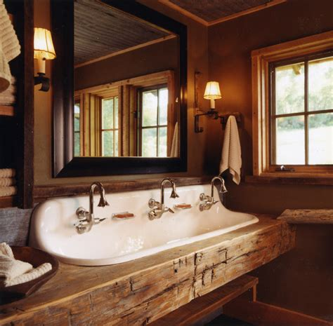 rustic sinks bathroom rustic bathroom
