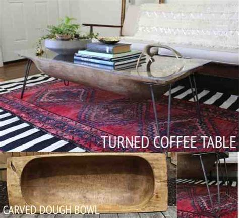 coffee table bowl ideas diy dough bowl coffee table do it yourself ideas