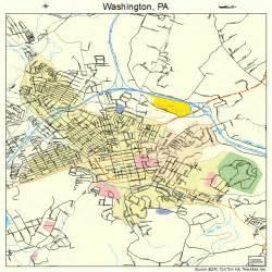 Washington Pa Map washington pennsylvania street map 4281328