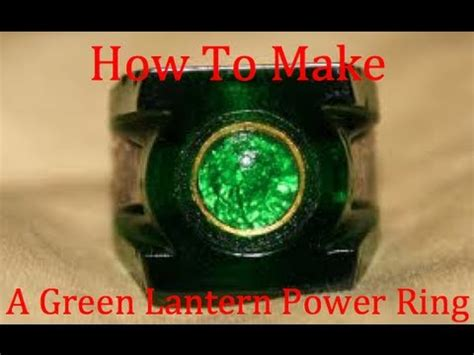 Origami Green Lantern Ring - how to make a green lantern power ring easy