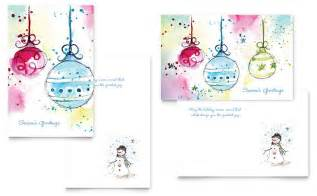 microsoft word greeting card template whimsical ornaments greeting card template word publisher
