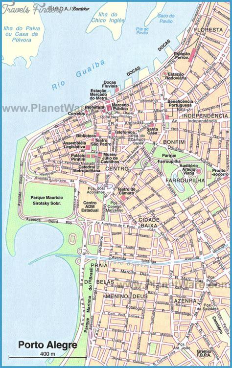 porto map porto alegre map tourist attractions travelsfinders
