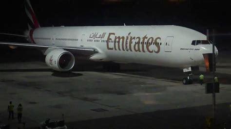 emirates hyderabad emirates 777 300 parking at hyderabad airport youtube