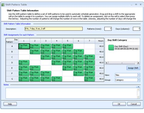 shift pattern generator online employee scheduling exle 8 hours a day 7 days a week