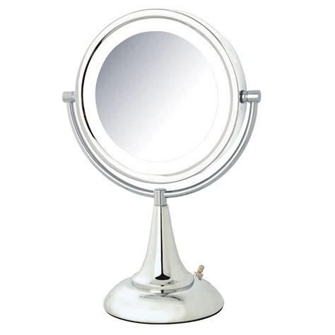 jerdon lighted magnifying mirror jerdon 10 in x 15 in led lighted mirror hl8510cl