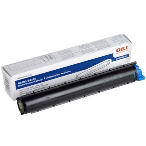 Oki Printer B2200 oki b2200 b2400 series black toner print cart genuine 43640301