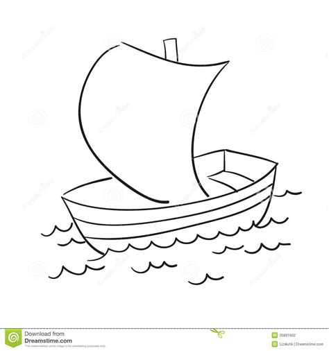 easy way to draw a boat vector sketch of the boat stock vector illustration of