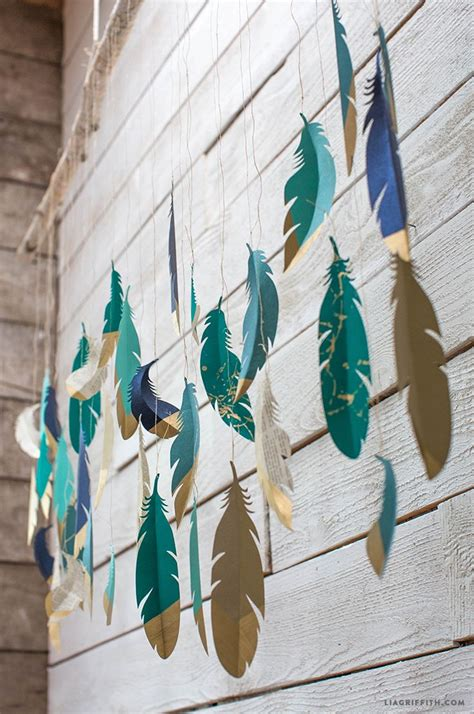 Better Homes And Gardens Wall Decor paper feather wall hanging