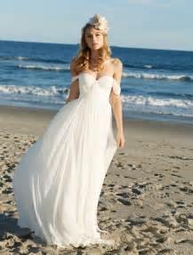 Chiffon Wedding Dress Off The Shoulder Sweetheart Soft Chiffon Summer Beach Wedding Dress Groupdress Com