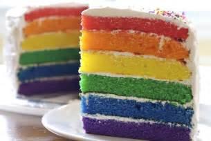 rainbow birthday cake recipe from scratch makebetterfood com