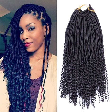 Braiding Hairstyles For Adults by 1pcs Crochet Hairstyles Faux Locs Curly Ends Dreadlocks