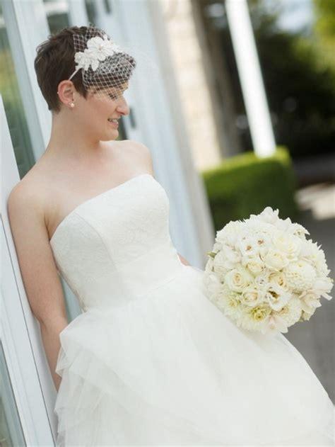 Braut Kurze Haare Schleier by Brautfrisuren Kurze Haare Schleier