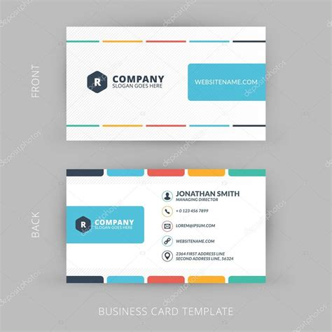 Business Card Appointment Clean Template Design Illustrator by Vector Modern Creative And Clean Business Card Template