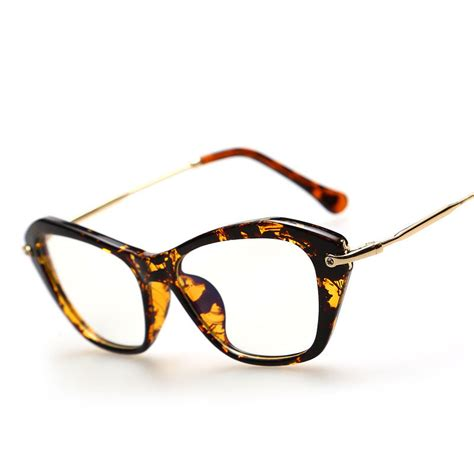 vintage retro cat eye style eyeglasses frame clear lens