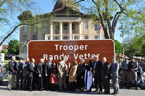 Hays County Records Search Trooper Randy Vetter Memorial Highway Signs Unveiled Hays County