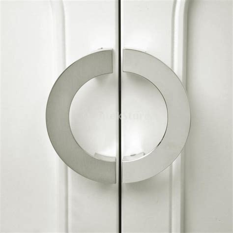 Closet Door Pull New Arrivals 2015 Modern Sliver Semi Circular Cabinet Knob Wardrobe Closet Door Pull Handle Free
