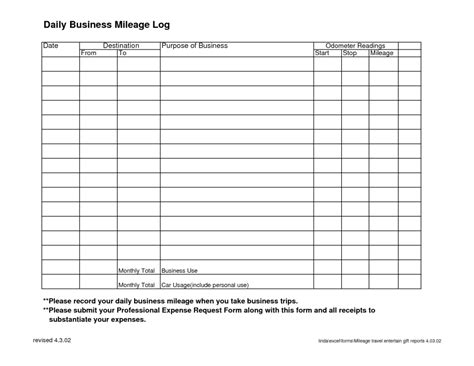 printable log book for vehicles 7 vehicle mileage log templates word excel pdf formats