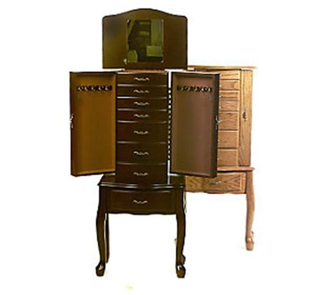 thomas pacconi jewelry armoire thomas pacconi free standing jewelry armoire qvc com