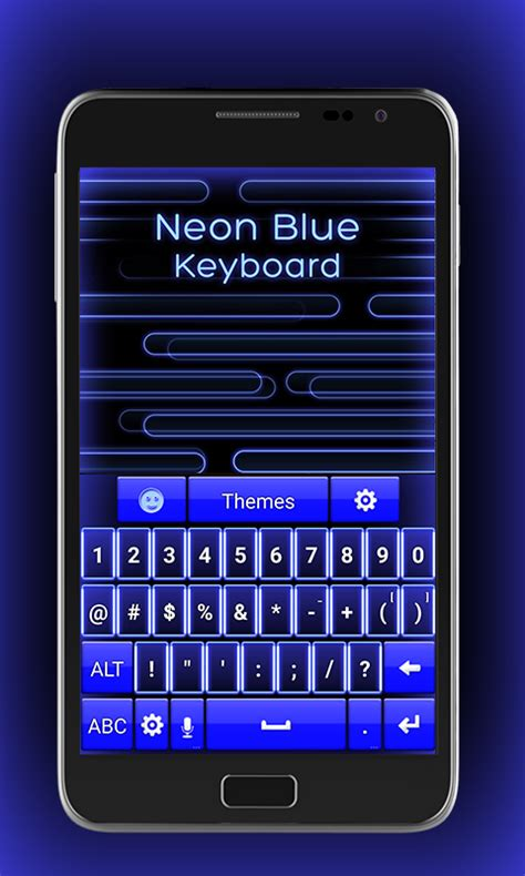 blue keyboards for android neon blue keyboard free app android freeware