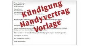 K 252 Ndigung Handyvertrag Vorlage Download Freeware De