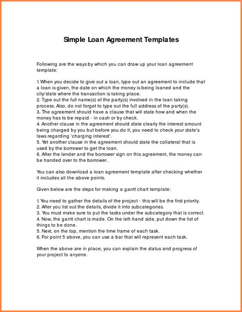 Loan Agreement Between Friends Template Free 8 loan agreement template between family members
