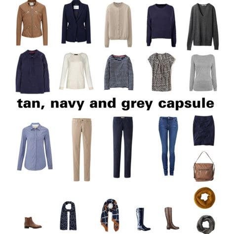 Navy Capsule Wardrobe by Navy And Grey Autumn Capsule Wardrobe Polyvore