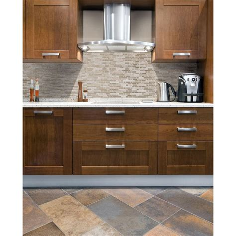 Home Depot Kitchen Backsplash Tiles smart tiles bellagio sabbia 10 06 in w x 10 00 in h peel