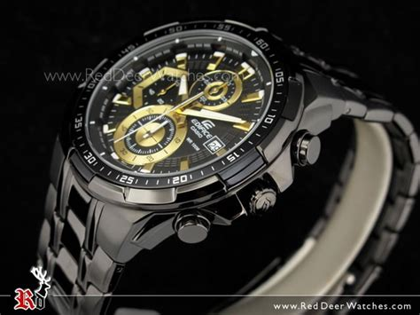 Casio Edifice Eqw M 1000 Black Gold buy casio edifice black gold ion plated mens watches efr 539bk 1av efr539bk buy watches