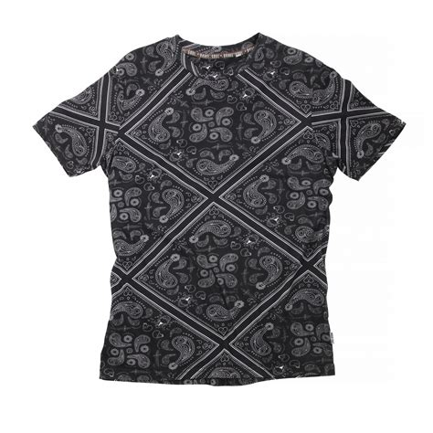 paisley pattern t shirt brave soul mens wallace short sleeve paisley pattern t
