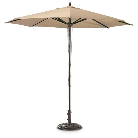 market patio umbrellas castlecreek 9 market patio umbrella 234561 patio