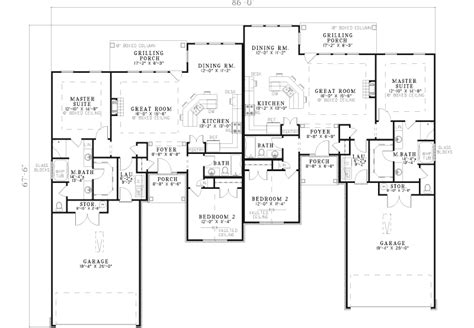 home design and drafting by brooke brooke ridge duplex home plan 055d 0399 house plans and more